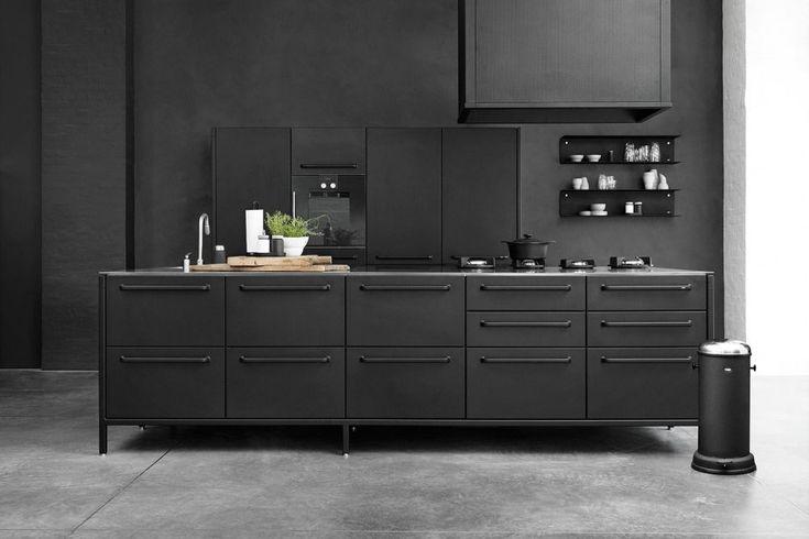 Les 48 meilleures images propos de cuisine kitchen for Cuisine metal noir