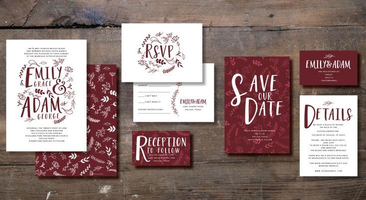 RUSTIC Wedding Invitation Set Save the date RSVP by INVITALIA