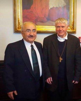 kurdish people kurdistan   Yekta Uzunoglu se světícím biskupem pražským Mons. Václavem Malým 21.12. 2015