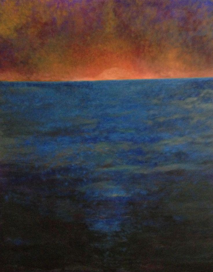"""""""AMANECER""""  oil/canvas  70cms x1mt,40cms  $1000.00"""