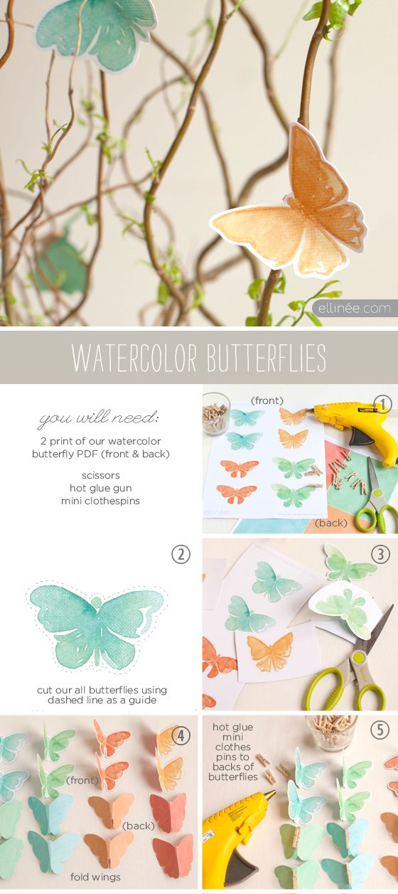 Free Butterfly Printables : Pretty for Spring Decor