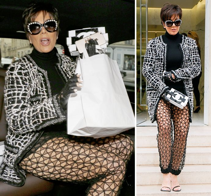 Hot Granny Kris Jenner Wears Totally See-<br>Through Pants At Paris Fashion Week - X17 Online