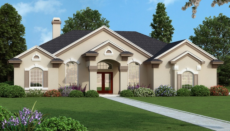 A must see house plan for single story living. This 2,140 square foot home with a two-car attached garage features an enormous master bedroom suite, second bedroom with a private full bath and convenient Jack and Jill full bath for bedrooms three and four. View this spacious home plan: http://www.dfdhouseplans.com/plan/3994/