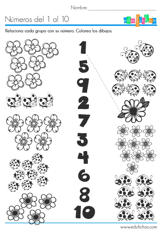 números del 1 al 10