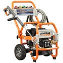 Generac Prosumer 3000 PSI Pressure Washer. Prosumer grade units are the bridge between Consumer and Professional units. This brawny group of pressure washers are meant for larger projects- farms, estates, and small businesses.    Generac is known for it's quality power equipment, and their new pressure washer line will fit right in.    A strong engine, triplex pump, and pro-style spray gun, wheels, and cart supply a lot of bang for your pressure washer buck.