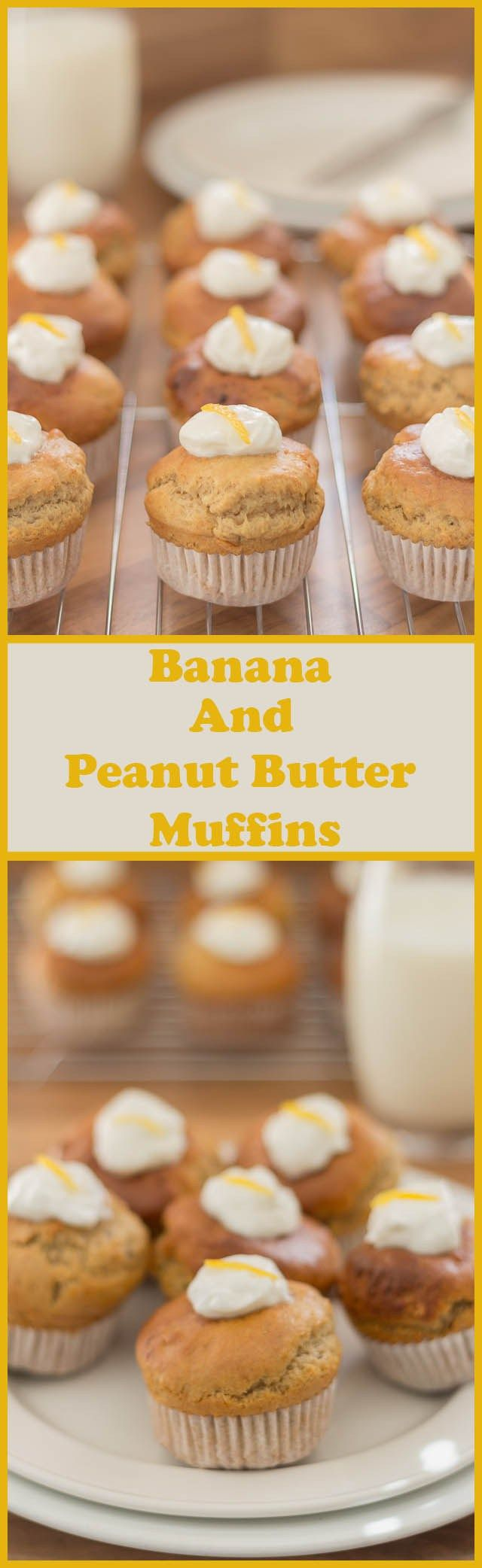 Low fat banana peanut butter muffins. Delicious peanut butter with ...