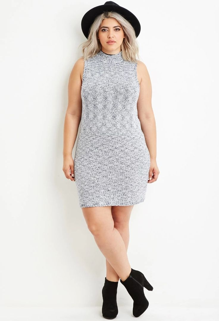 Plus Size Marled Knit Sweater Dress | Forever 21 PLUS #forever21plus