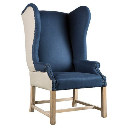 Two please. I'm in love.: Pierre Arm, 2 Tones Upholstery, Rocks Chairs, Upholstery Accent, Arm Chairs, Wingback Silhouette, Bring Distinct, Distinct Style, Armchairs