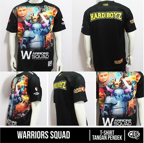 Kaos Jersey Clash Of Clans-Warriors Squad Bahan: Dry-Fit Polyester Printing : sublimasi (Gratis penambahan nama id,nama&logo clan,sama jabatan) Untuk Pemesanan: BBM 543D3DBB Qdr Online Shop WA/LINE: 081222970120