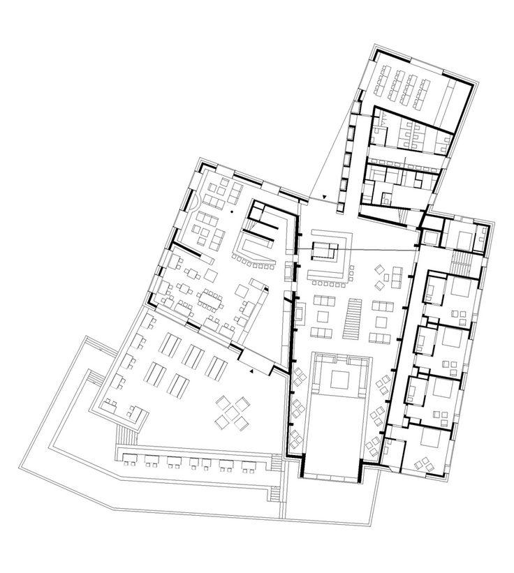 Gallery Of Chetzeron Hotel / Actescollectifs Architectes   30. Hotel Floor  PlanBoutique ...
