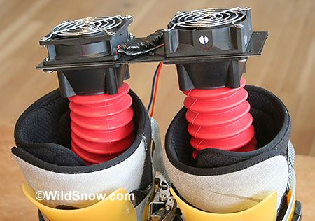 DIY backcountry skiing boot dryer does the job in a tenth the time as commercial models.
