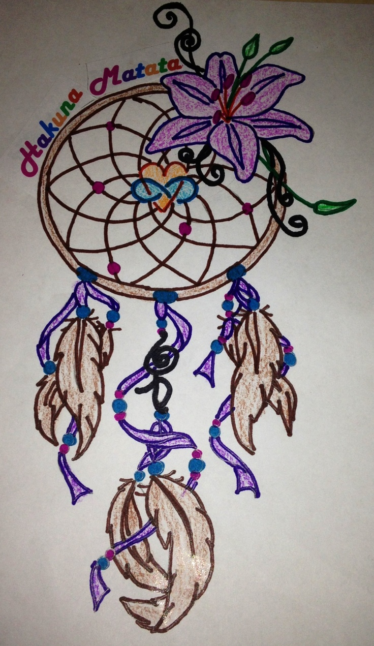 A Design Dream: My Tattoo Design. #dream Catcher, #tiger Lily, #hakuna