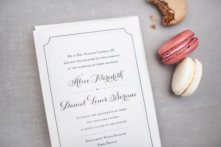Semplice & elegante matrimonio invito Suite - Parigi di RosevilleDesigns su Etsy https://www.etsy.com/it/listing/130731765/semplice-elegante-matrimonio-invito