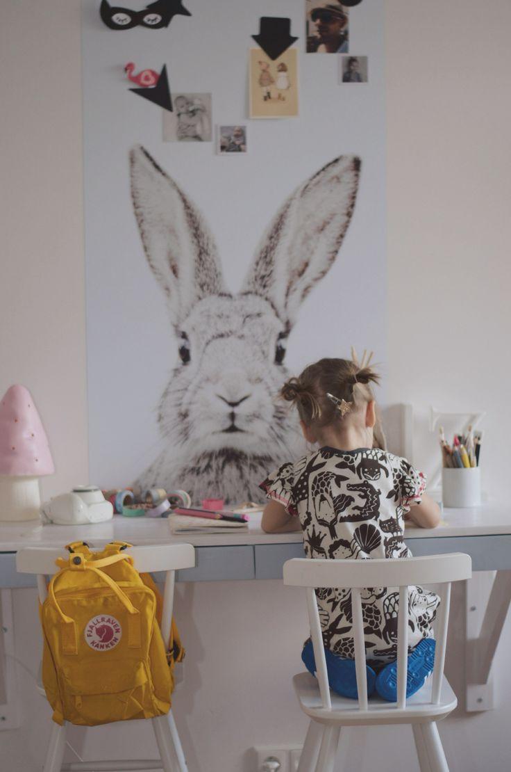 Adorable bunny wall panel