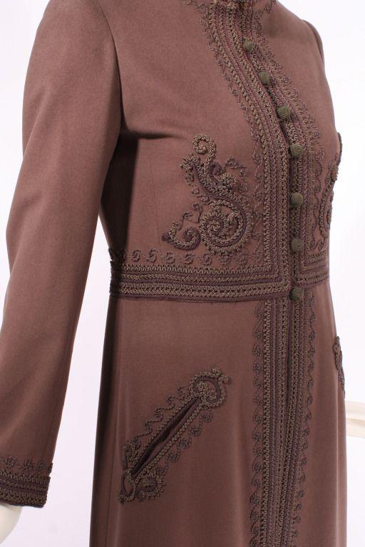 Yves Saint Laurent Haute Couture Russian Passementerie Coat #26438