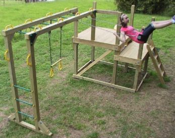 386 best playground ideas homemade images on pinterest for Child swing plans free