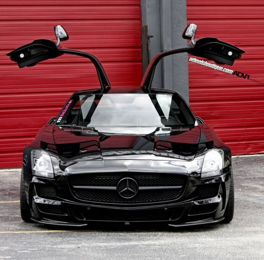 The BATMOBILE! Mercedes-Benz SLS AMG Black Series. Check out the gullwings here: www.ebay.com/itm/Mercedes-Benz-SLS-AMG-Black-Series-BLACK-SERIES-b-o-bang-olufsen-sound-system-p70-SLSBSC-gullwing-/261450982973?forcerrptr=true&hash=item3cdfb1663d&item=261450982973&pt=US_Cars_Trucks?roken2=ta.p3hwzkq71.bsports-cars-we-love #batman #spon