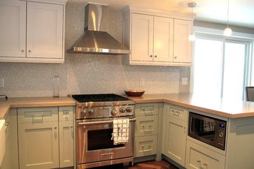low microwave, nice simple cabinets