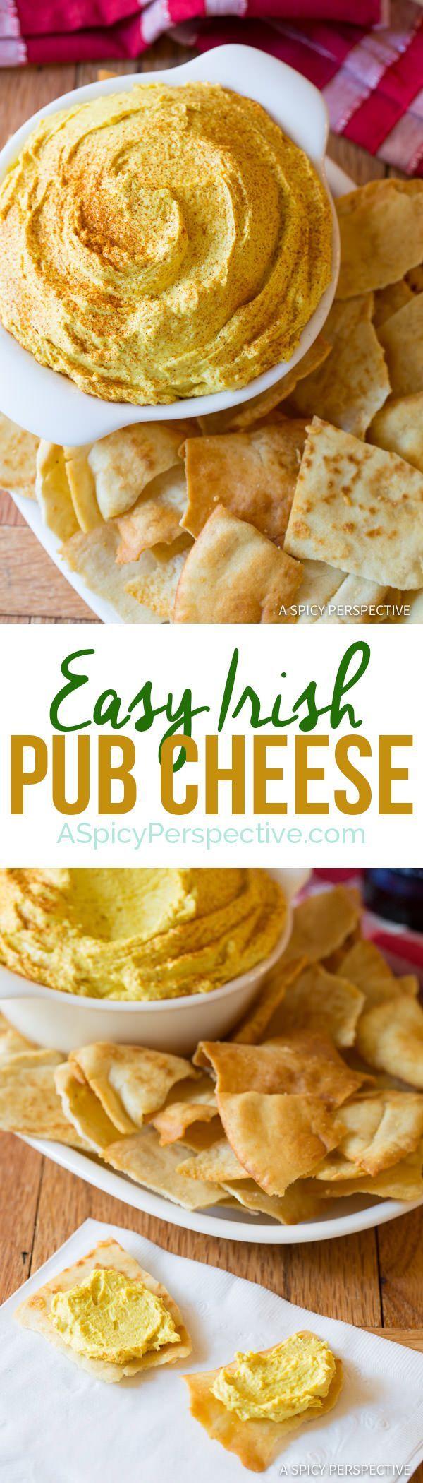 6-Ingredient Irish Pub Cheese | http://ASpicyPerspective.com