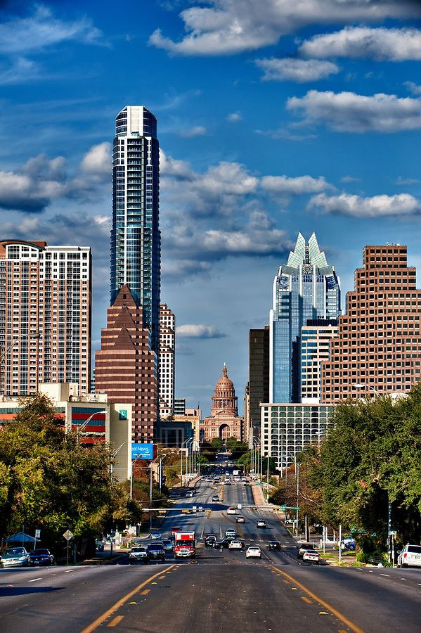Austin Texas Skyline / Texas State Capitol from south Congress by Bee Creek Photography