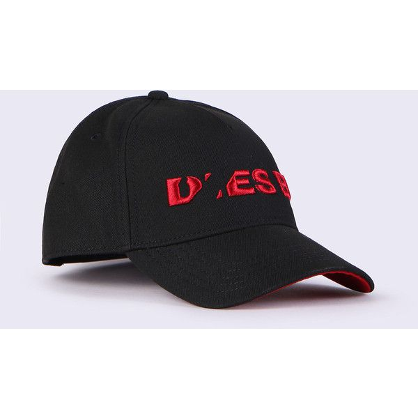 Diesel CIDIES Caps, Hats & Gloves ($48) ❤ liked on Polyvore featuring accessories, hats, caps, hats & gloves, other accessories, women, baseball hat, 5 panel baseball cap, embroidered hats and 5-panel hats