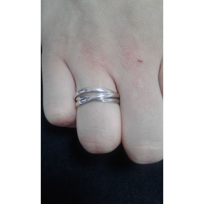Парные обручальные кольца картье из серебра 01О050022-01О050022 / 01О050022 / Пара серебряных обручальных колец