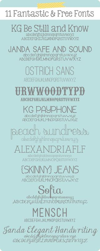 #papercrafting #fonts #typography 11 Fantastic and Free Fonts.