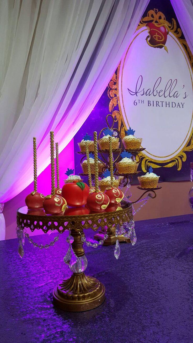 descendants Cake pops   Descendants party decoration ...