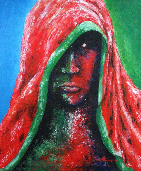 Mysterious Girl, Acrylic on canvas, 60cm x 50cm, Artist : Aliyas