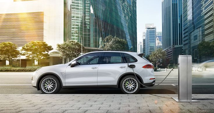 the 2015 porsche cayenne S E-hybrid SUV enables pure electric driving - designboom | architecture