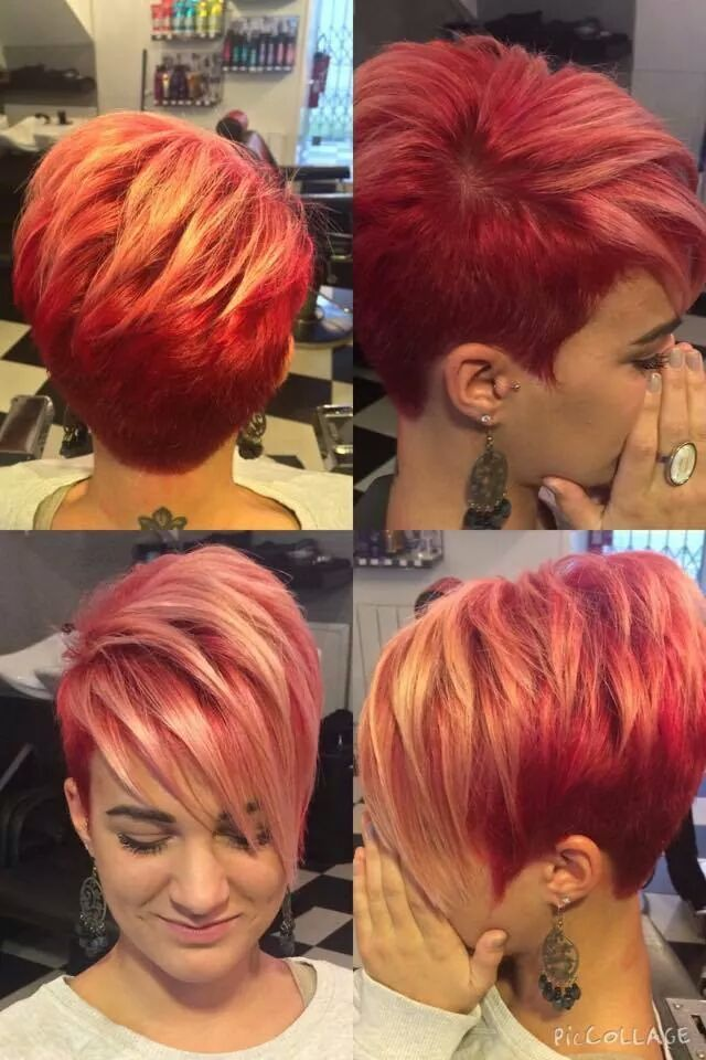 Oooh! this is awesome..cut and color...growing it out would be a bitch