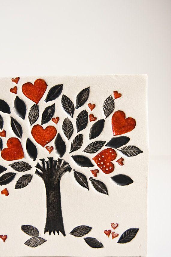 albero della vita arte della parete in ceramica di karoArt su Etsy