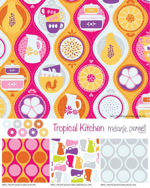 Tropical Kitchen © Melanie Pennell Design 2014 Surface Pattern Design