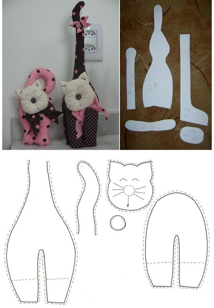 Patterns that could be used for applieque, too - Two Cute Kittens van katten patronen kan ik nooit genoeg krijgen