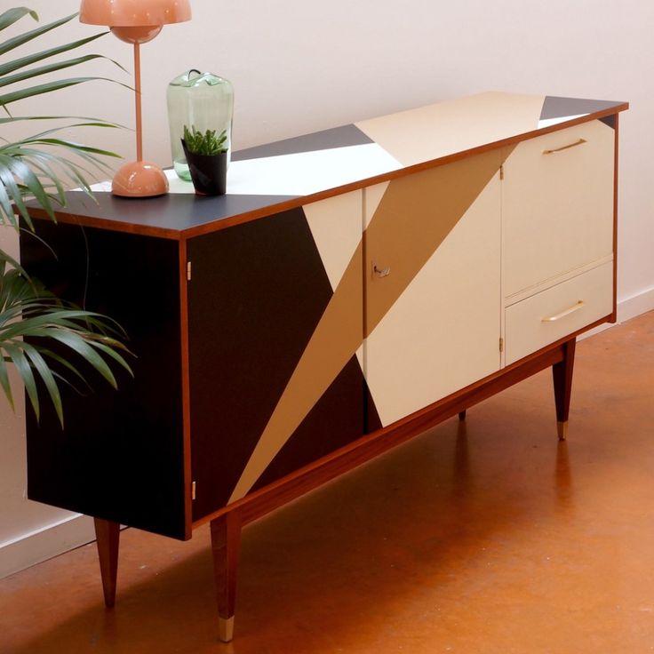 Enfilade vintage, un meuble de caractère, une pièce forte.      Kontrast-Design