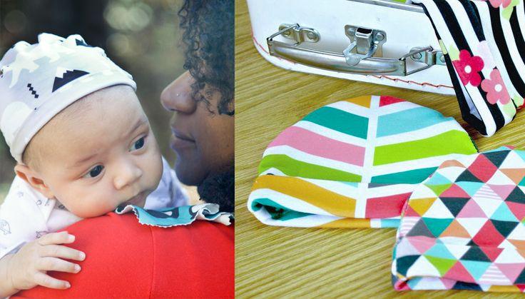 Spoonflower Modern Jersey Baby Hat with Polar Bears