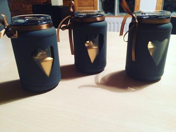 Készíts saját mécses lámpát Mindenszentek napjára befőttes üvegből. | Lakásművészet