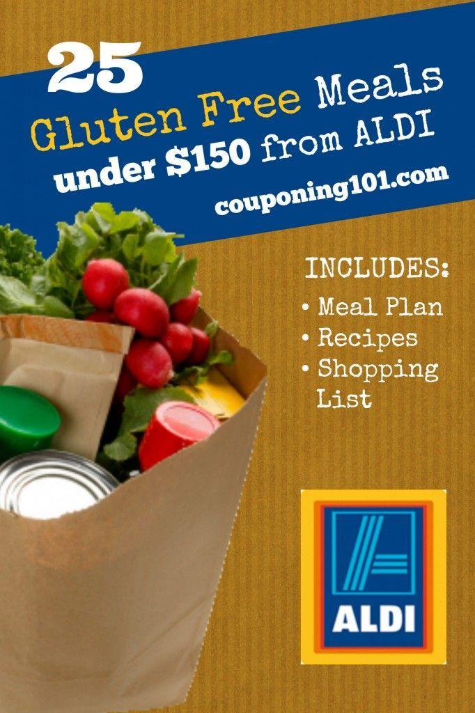 Make 25 gluten-free meals for less than $150 from ALDI! Includes a printable meal plan, recipes, and shopping list!