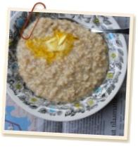 Honey and Fresh Ginger porridge