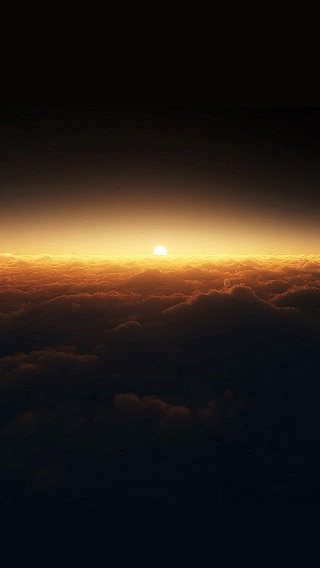 Sunset Above The Clouds Ios 11 Iphone X Wallpaper Hd 4k
