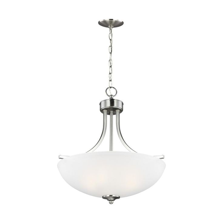 Sea Gull Lighting Geary 3 Light Brushed Nickel Pendant