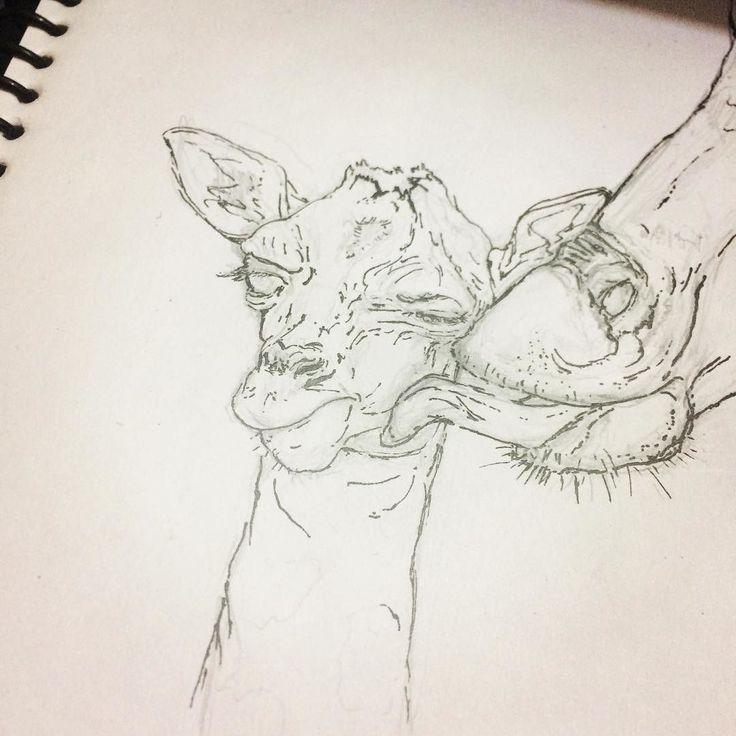 Giraffe .. mother and the son.. 1/2 . . . #sketchbook #sketching #sketch #drawing #art #artsy #artist #giraffe #baby #artwork #doodle #doodles #characterist #like4like #draw #tagsforlikes #instaart #instagood #instadaily #illustration #animal #cool #son #artwork #artoftheday #pen #followforfollow #love #creative  #blackandwhite