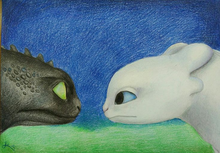 Leni Art drawing : Luna and Toothless