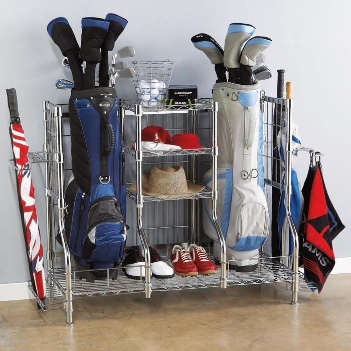 Double Golf Bag Rack and Organizer | For the Home | Pinterest | To be, We and Places
