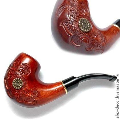 Курительная трубка N-711059A43. Курительная трубка N-711059A43 (под фильтр 9 мм). Ручная работа.   Материал: груша, кольцо - латунь. Размеры: общая длина - 155 мм, длина мундштука - 77…