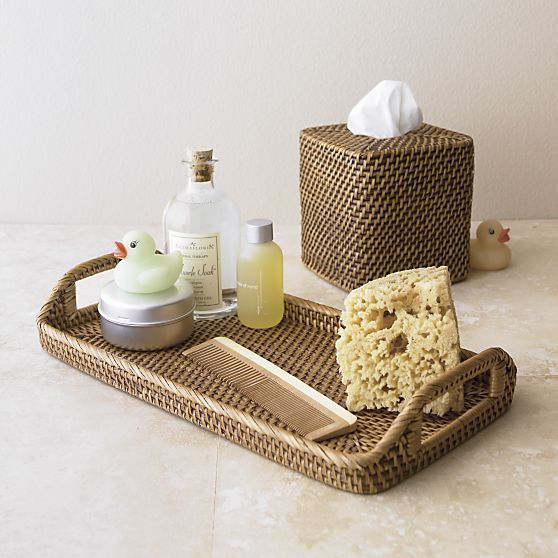 sedona bath accessories crate and barrel more - Bathroom Accessories Vanity Tray