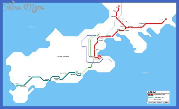 awesome Dalian Metro Map