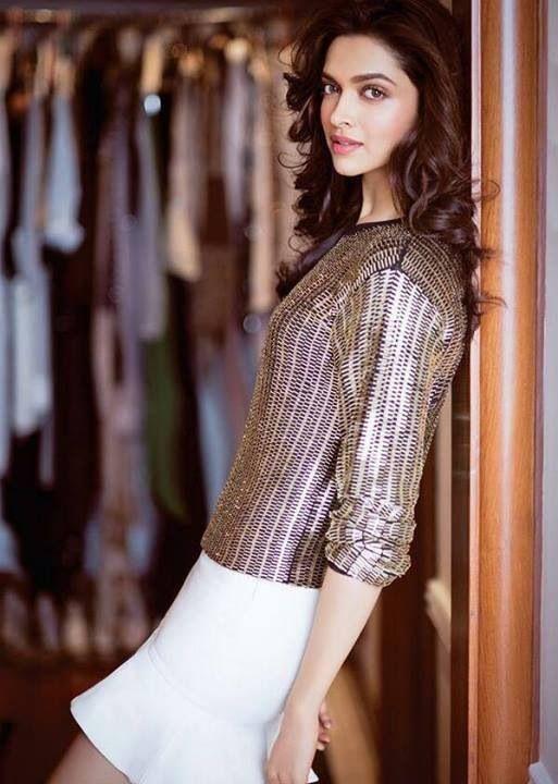 Deepika Padukone Gold and White