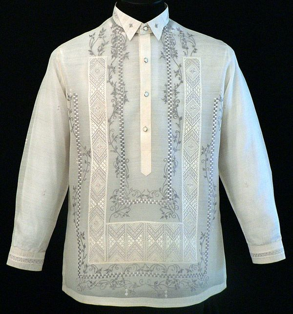 Tuxedo Style Winged Collar Barong Barong Pinterest