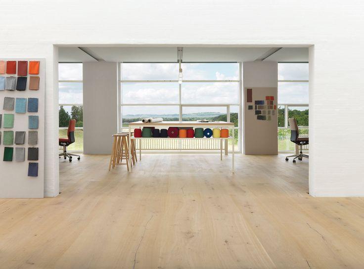 Wide plank flooring af Kvadrat HQ - HeartOak by Dinesen